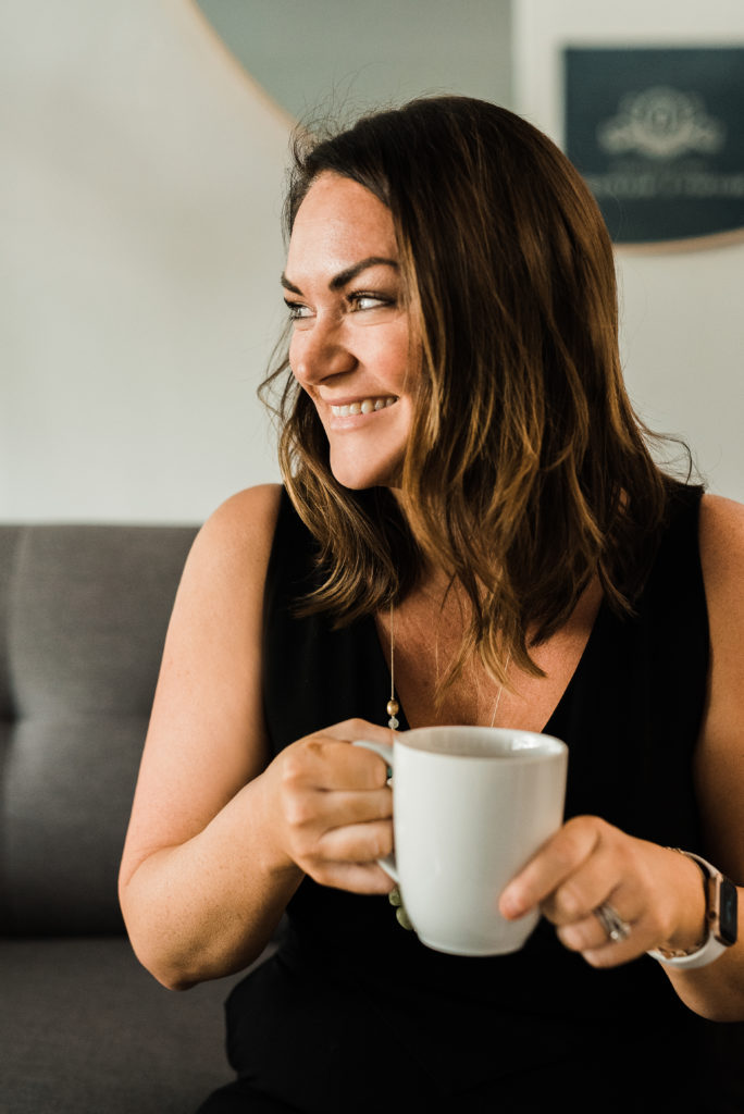 Vanessa Pena, personal injury attorney with a cup of coffee